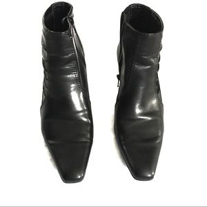 Franco Sarto Black Point Toe Ankle Boots Size 6M